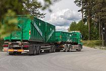 Ragn-Sells prügiauto - ehitusjäätmete vedu